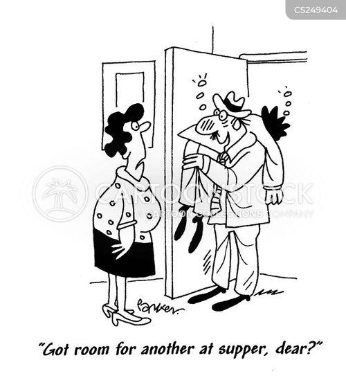 supper guest cartoon