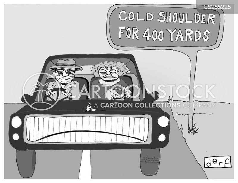 hard shoulder cartoon