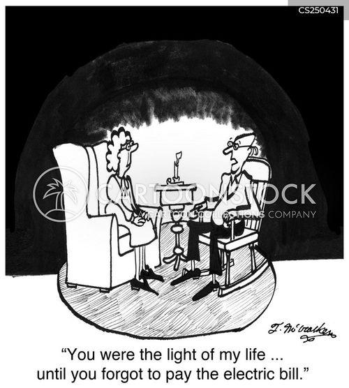 electric utility cartoon