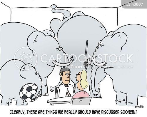 elephants in the room cartoon