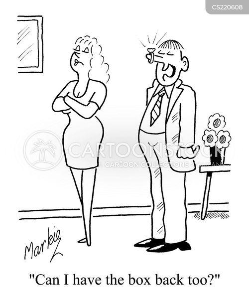 finacee cartoon