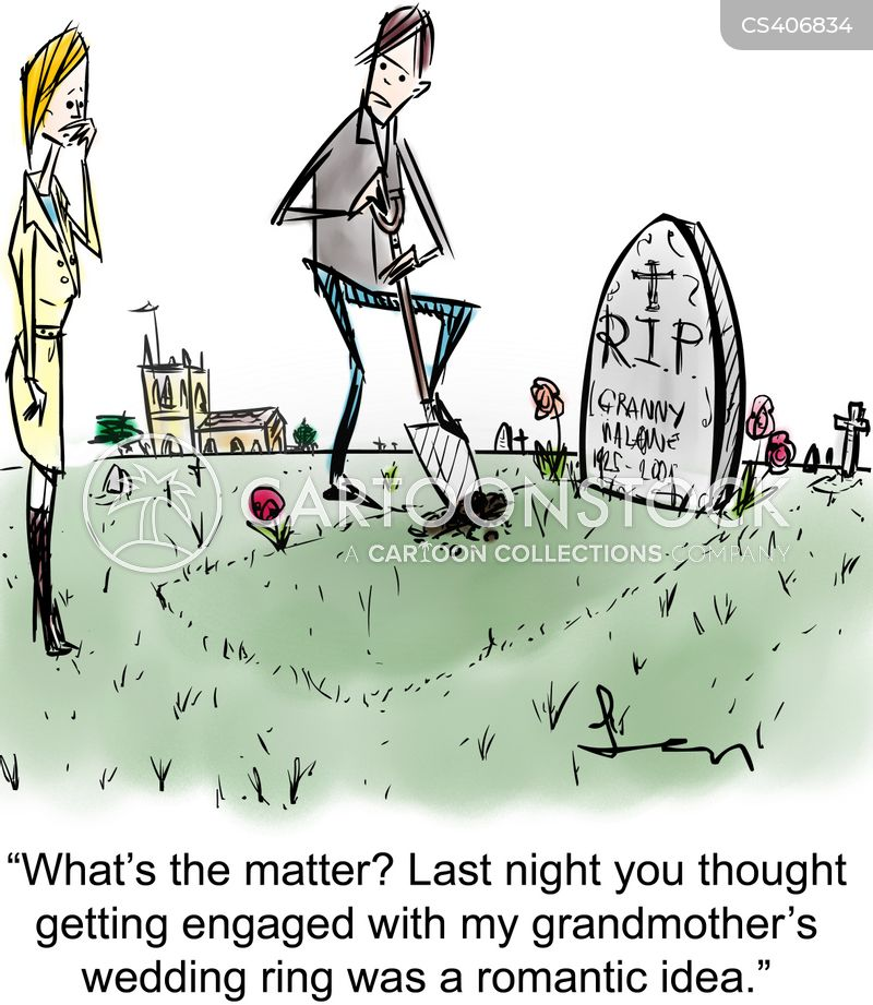 grave robbery cartoon