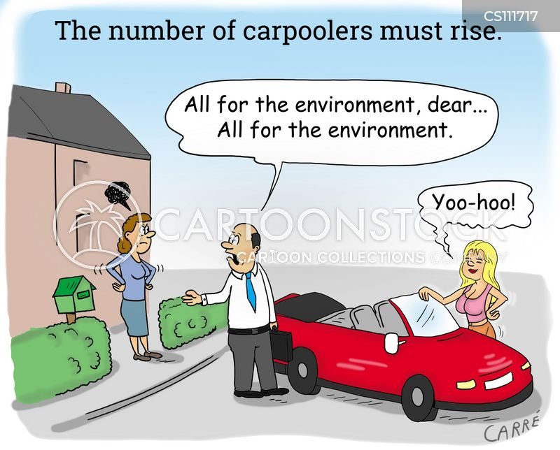 car pool cartoon