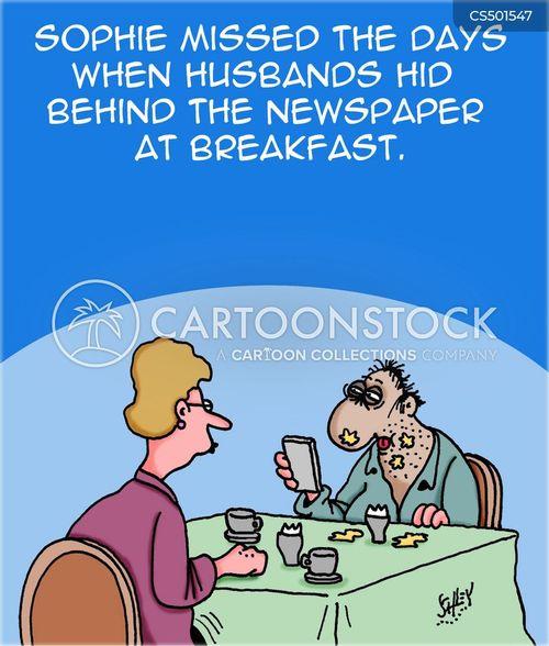 morning newspaper cartoon