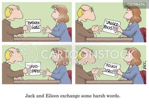 harsh words cartoon