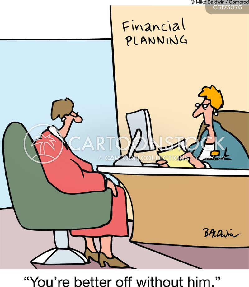 financial planners cartoon