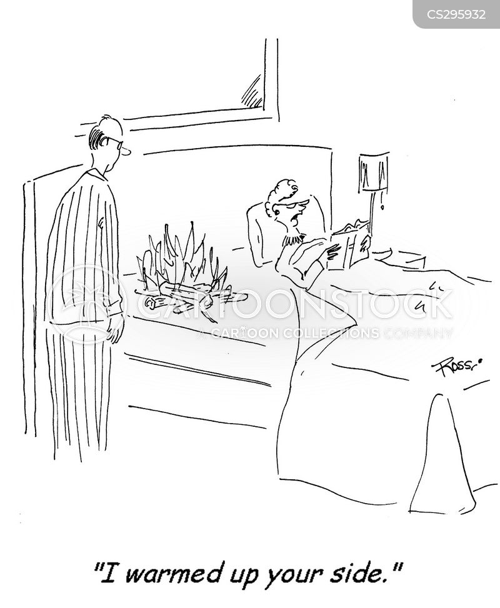double bed cartoon