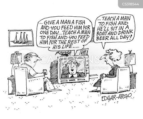 sea foods cartoon