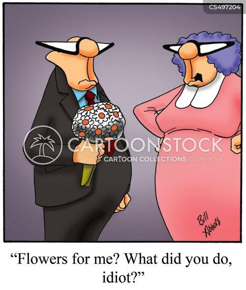 floral arrangements cartoon