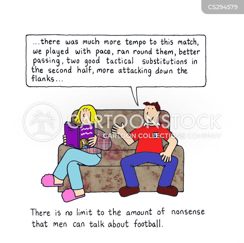 football supporters cartoon