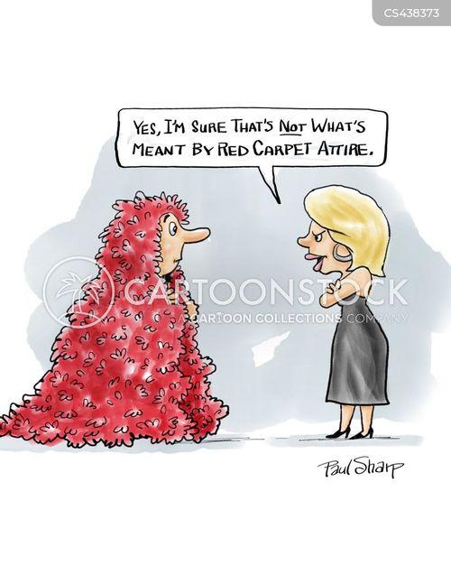 formal dress cartoon