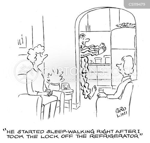 sleep-walker cartoon