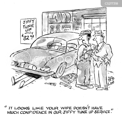 car servicing cartoon