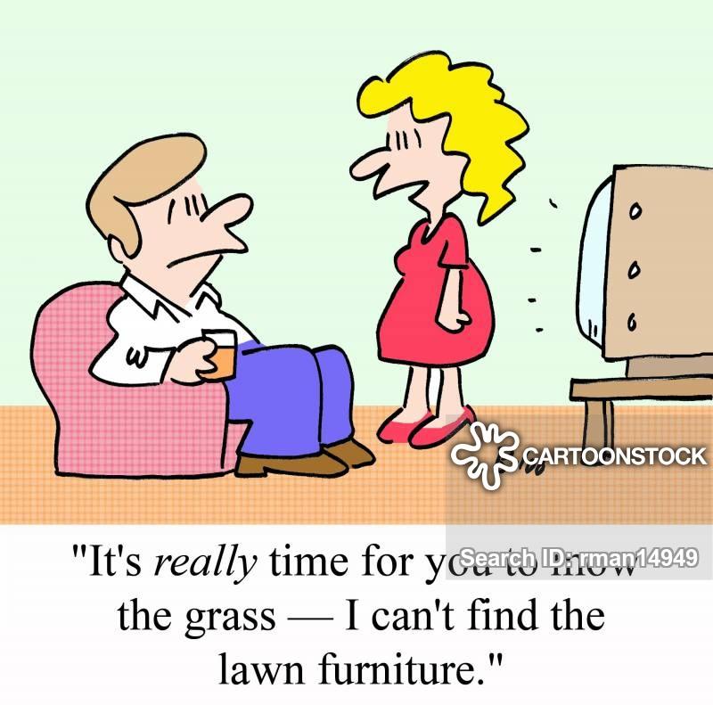 garden furnitures cartoon
