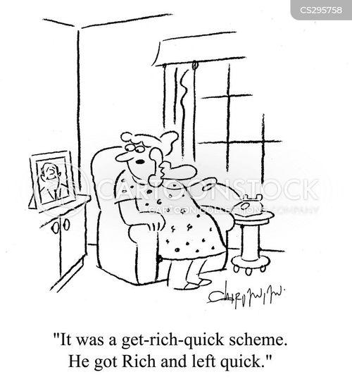 Get Rich Quick Cartoon 2 Of 9