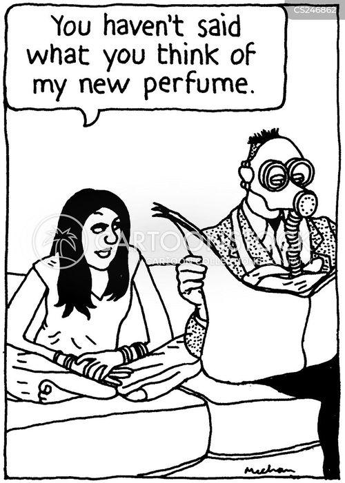 strong smells cartoon