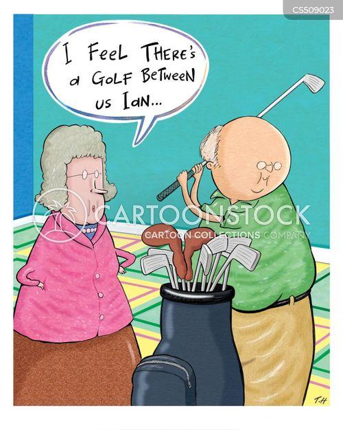 golf fan cartoon