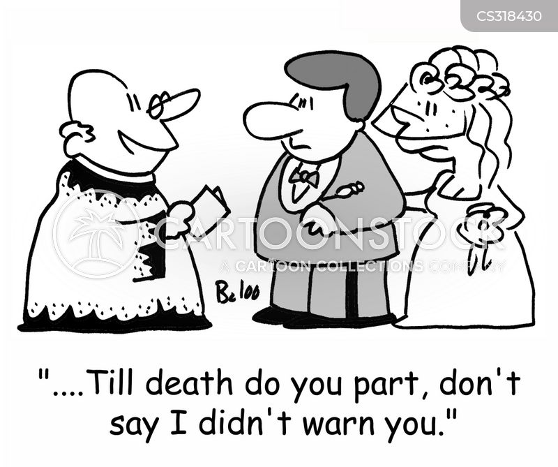 till death do us part cartoon