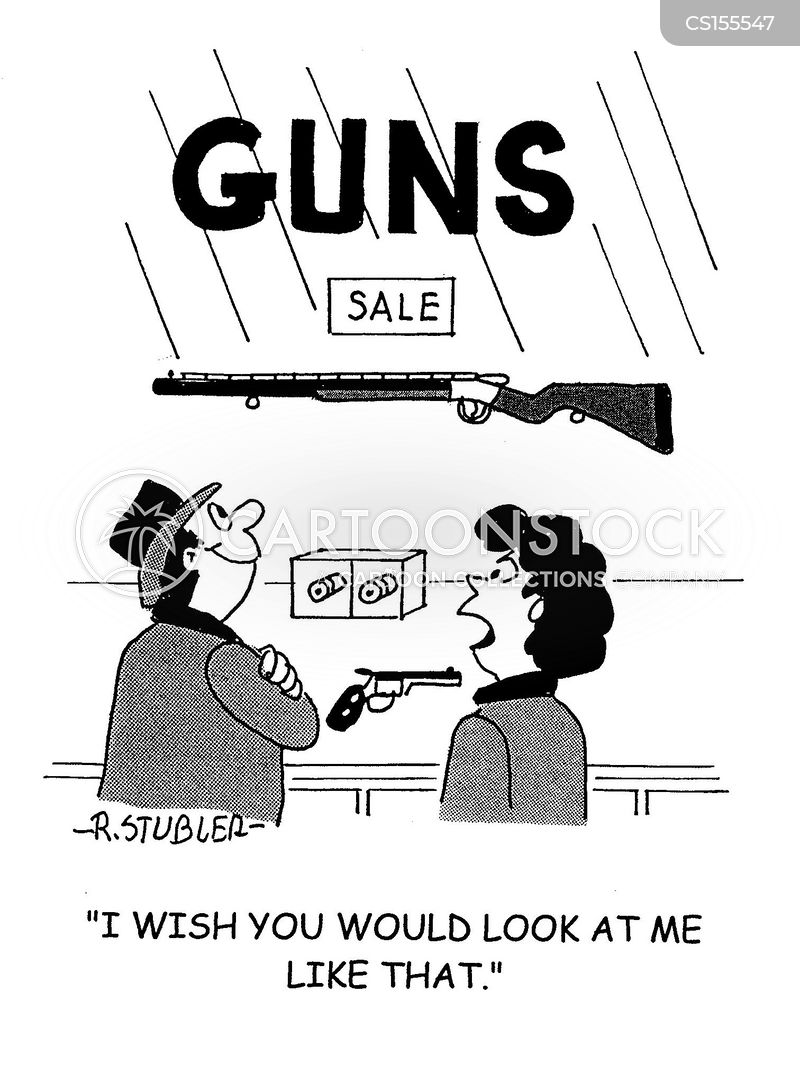 gun sales cartoon