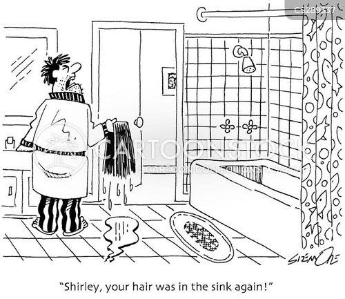 bathroom sinks cartoon