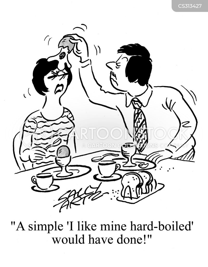 hard-boiled egg cartoon