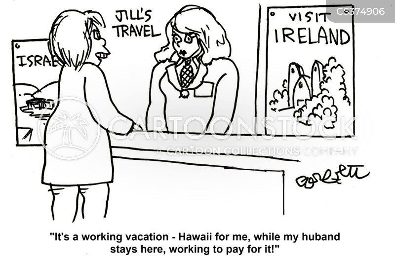 working holidays cartoon
