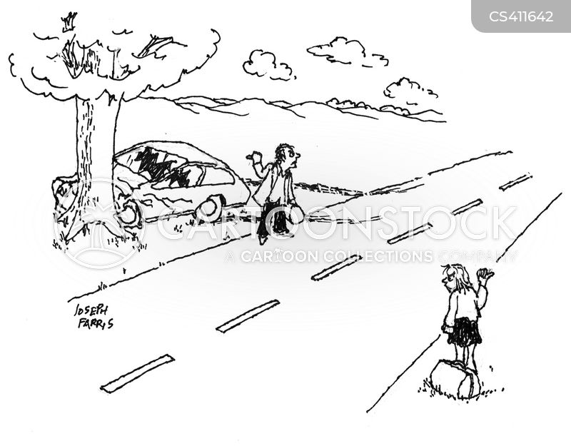 car-crashes cartoon
