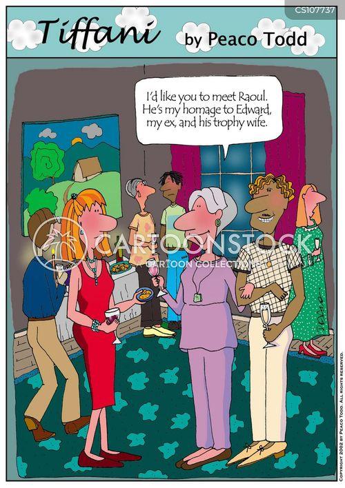 older woman cartoon