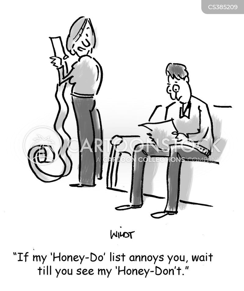 honey-do list cartoon