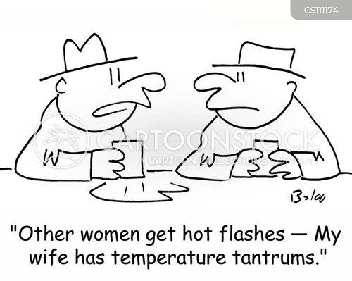 hot flashes cartoon