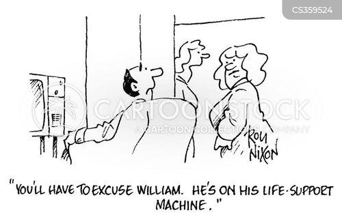 life support machine cartoon