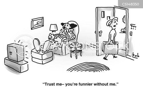 clowning about cartoon