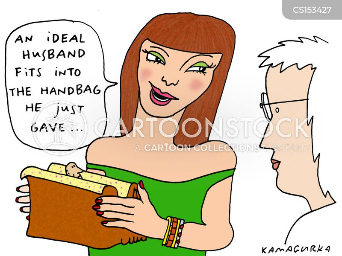 designer purse cartoon
