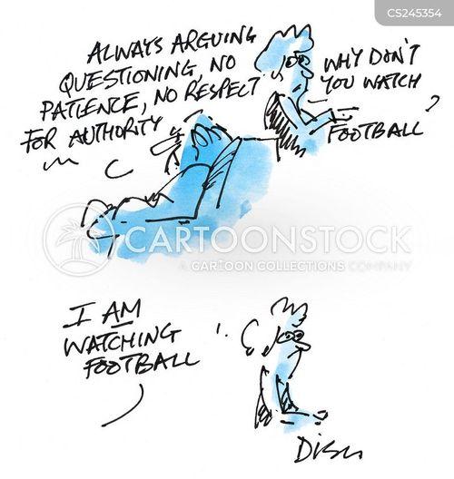 footballing cartoon