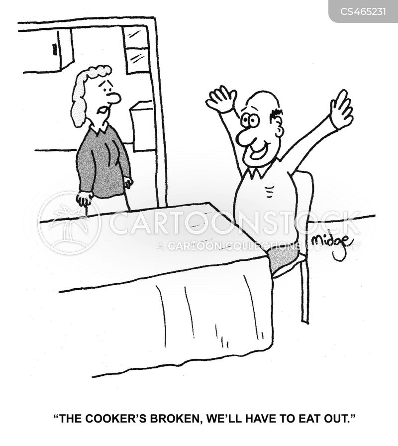 homecooked dinner cartoon