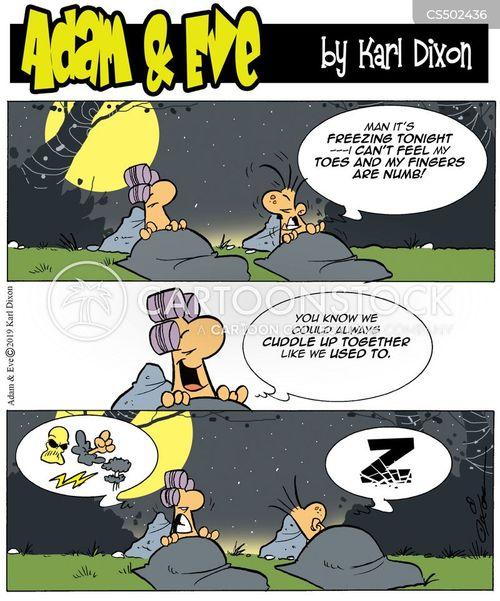 cold nights cartoon