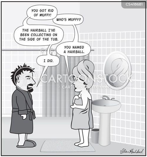 hairballs cartoon