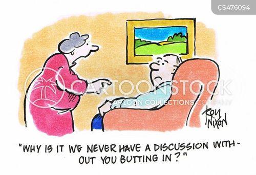 butting in cartoon