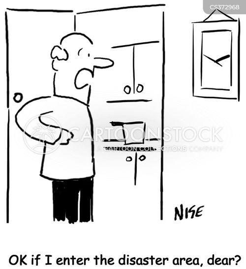 disaster zone cartoon