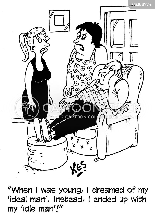 ideal man cartoon