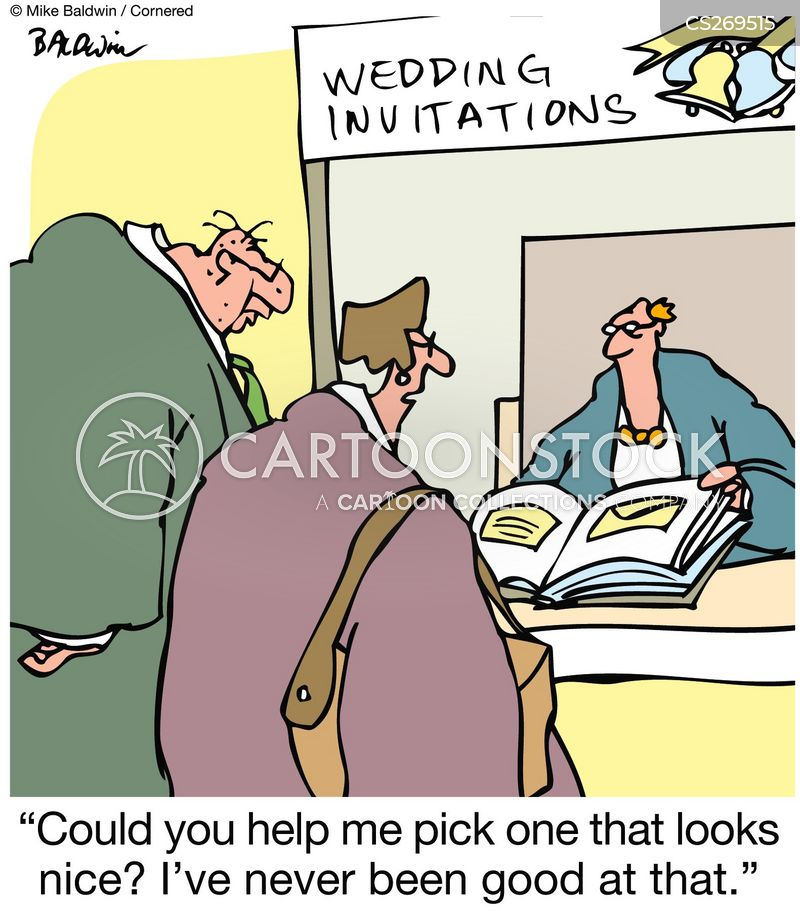 Wedding Invites Cartoons and Comics funny pictures from CartoonStock