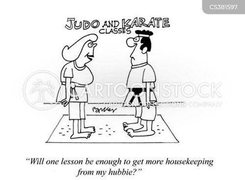 karate lessons cartoon