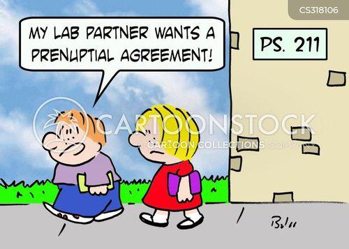 lab partners cartoon