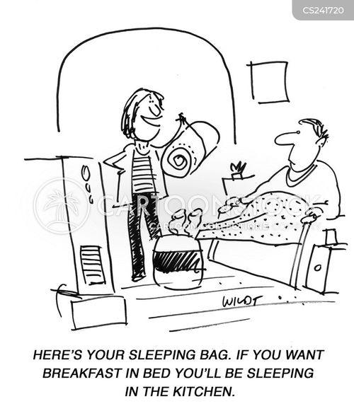 sleeping bags cartoon