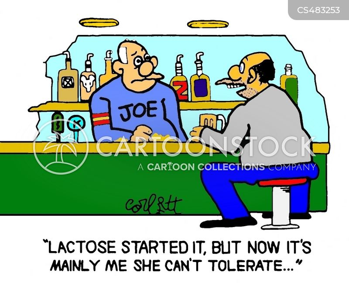 lactose allergies cartoon