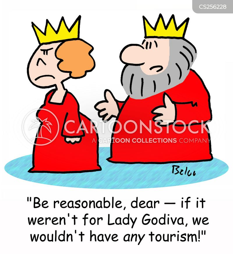 lady godiva cartoon