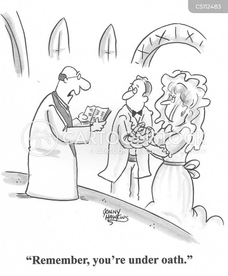 exchanging vows cartoon