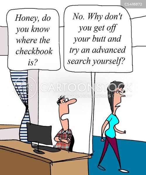 internet search cartoon