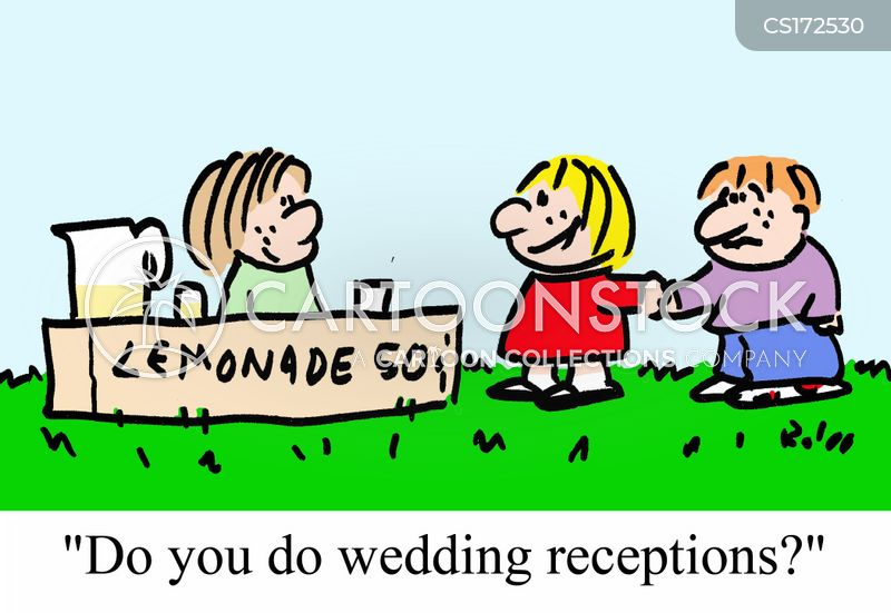 wedding reception cartoon