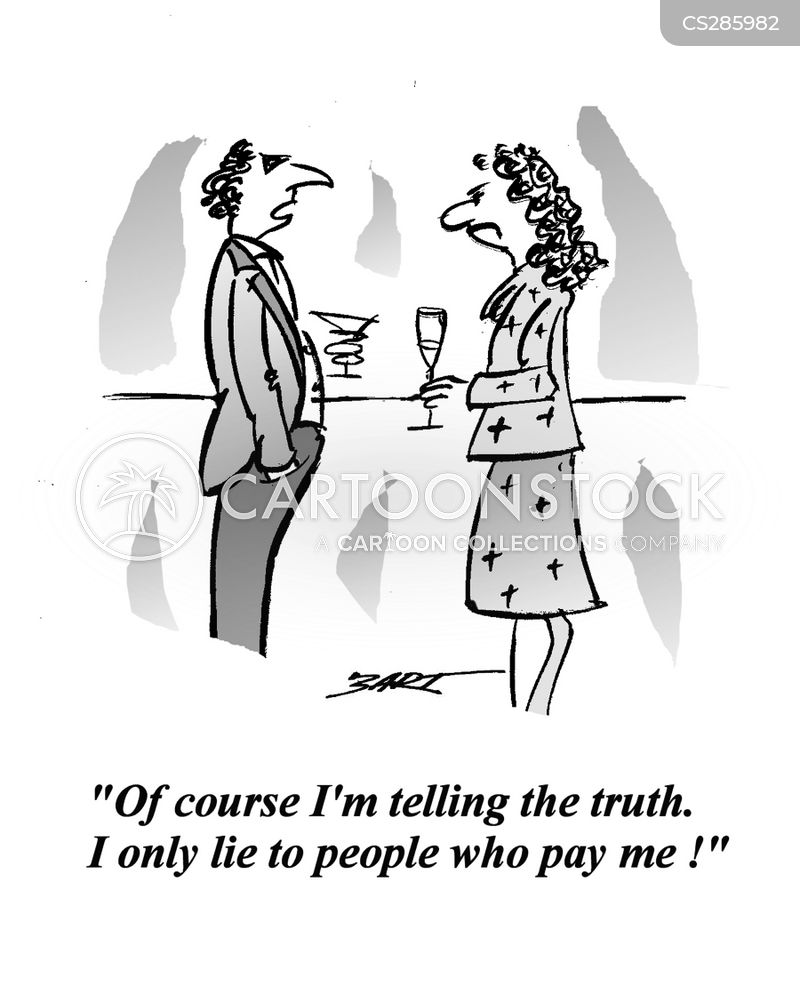 untruth cartoon